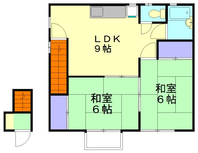小菊荘・2F号室の間取り