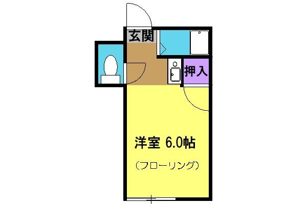 石山荘・M号室の間取り