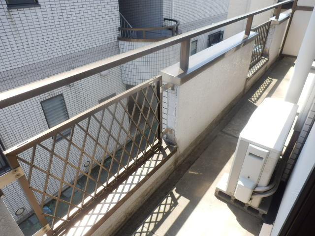 メゾンドカルムA 202号室のバルコニー