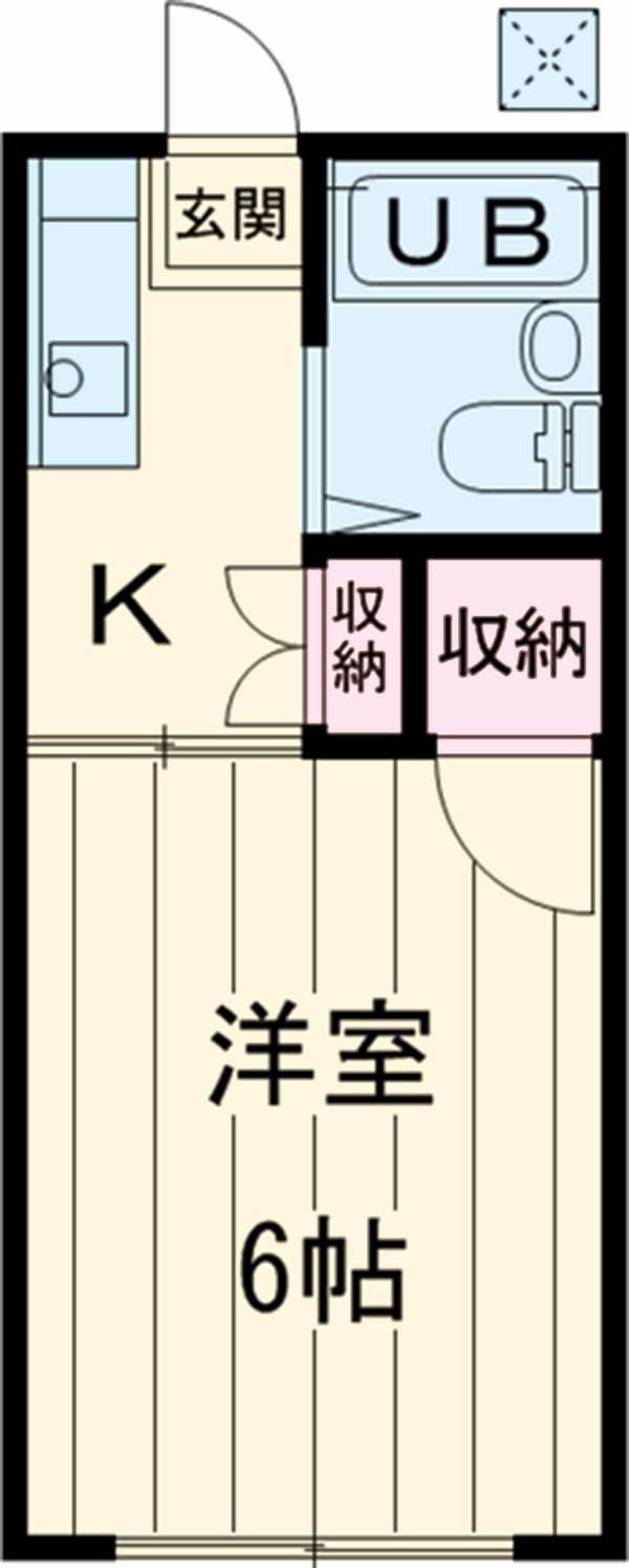 小川二葉A・103号室の間取り