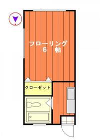 ホワイトローズマンション・201号室の間取り