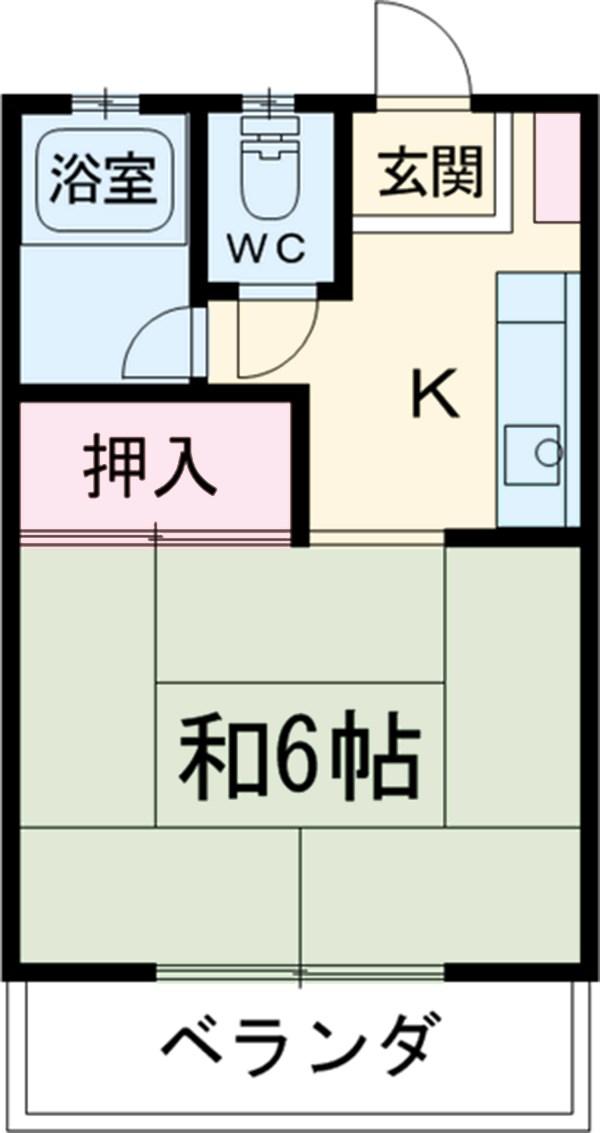 小島荘第一・202号室の間取り