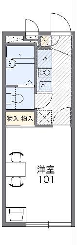 レオパレス富士見台・104号室の間取り