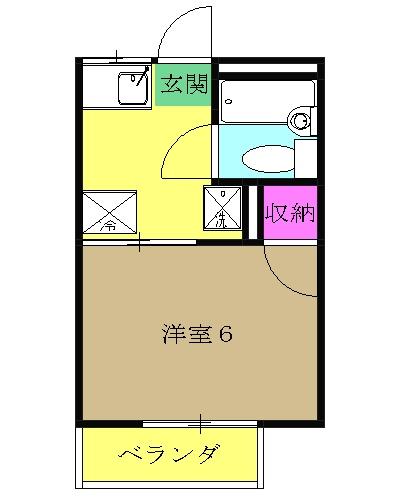 慶應フジビューハイツ・103号室の間取り