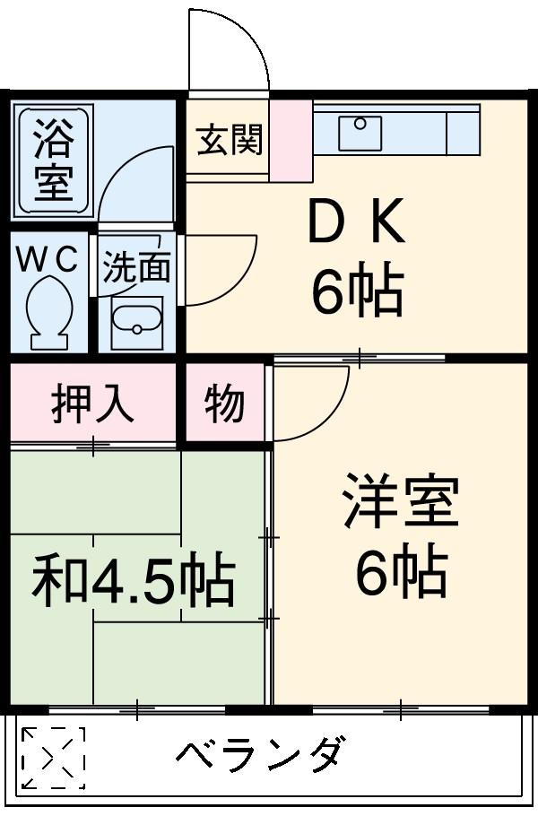 高橋マンション・313号室の間取り