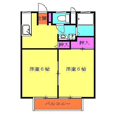 柴田ガーデンハイツF棟・103号室の間取り