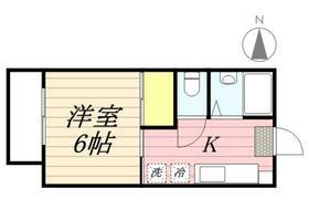 コーポ富士(国分寺市)・0203号室の間取り