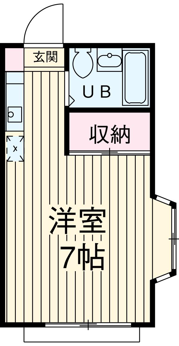 カサベルデ小坂・103号室の間取り