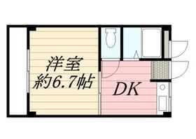 オークハウス 0303号室の間取り