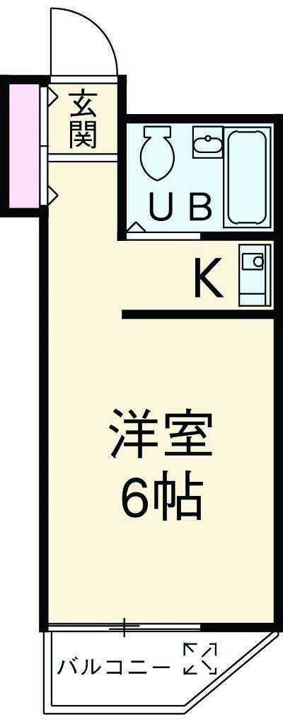 グランドボナール妙蓮寺 203号室の間取り