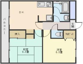 メゾン・ドゥ・ラポート羽村Ⅱ・105号室の間取り