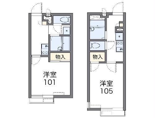 レオパレスラッキーサン横浜・103号室の間取り