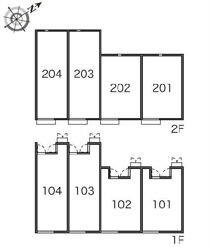 レオネクストパサージュⅠ 201号室のバルコニー