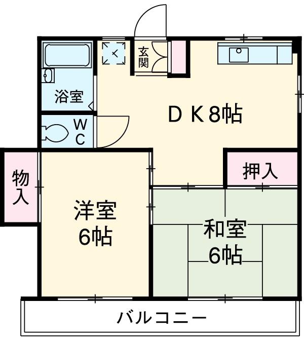 上沢アパート・202号室の間取り
