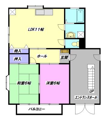 コーポ秋山2・202号室の間取り
