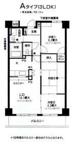 ラポ-ル菅田・604号室の間取り