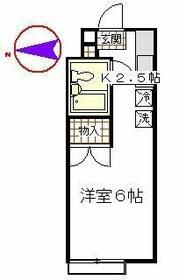 立川栄町フラット・1204号室の間取り
