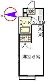 立川栄町フラット・1103号室の間取り