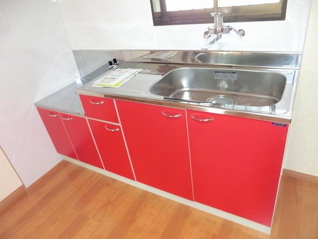 レインボー上砂 205号室のキッチン