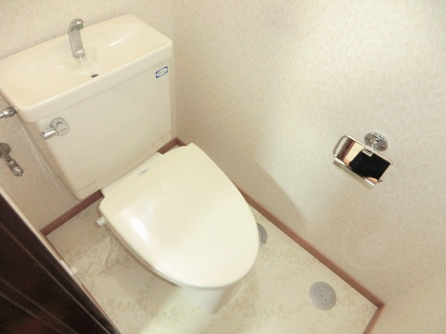 レインボー上砂 205号室のトイレ