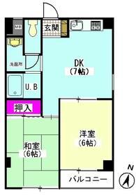 メゾンアヅマ・301号室の間取り