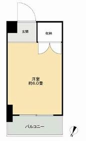 ドミール本羽田・205号室の間取り