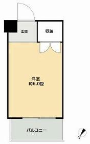 ドミール本羽田・407号室の間取り
