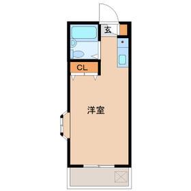 東洋第二ビル・303号室の間取り