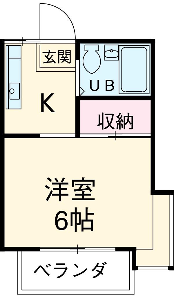 メゾンジュネ・2A号室の間取り