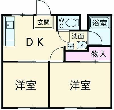 柴田ガーデンハイツD棟・201号室の間取り