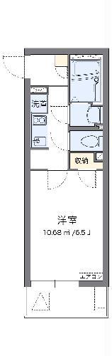 クレイノ翔花 105号室の間取り
