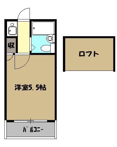 レオパレス綱島第3 103号室の間取り