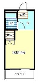 サンアベニュー羽村 201号室の間取り