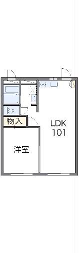 レオパレスBOUGAKU A 206号室の間取り