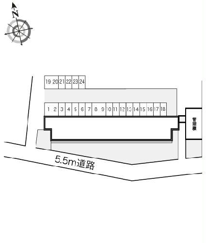 レオパレスBOUGAKU A 307号室のトイレ
