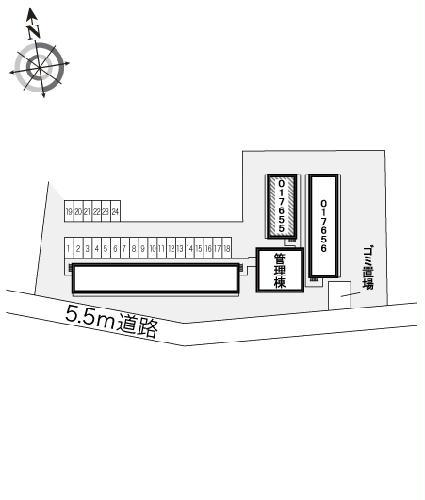 レオパレスBOUGAKU B 101号室の風呂