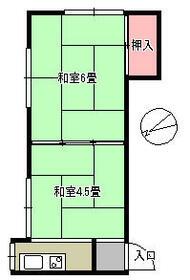 日吉荘 205号室の間取り