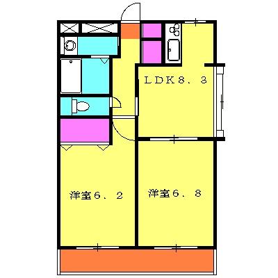 ラフォーレ大倉山 102号室の間取り