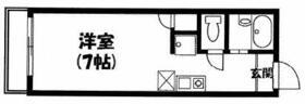 m2ハウス・104号室の間取り