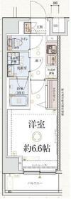 ベルシード横浜ポルト・703号室の間取り