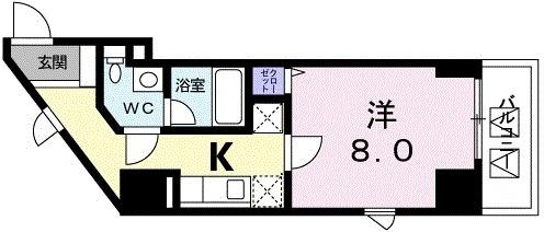 広尾ビューヒルズ・07050号室の間取り