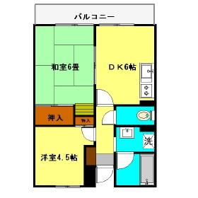 エルム大倉山第9・102号室の間取り