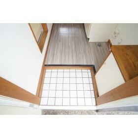 パールハイツ B202号室の玄関