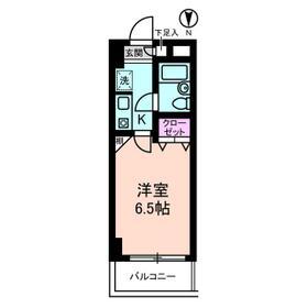 ベルメゾン川崎Ⅰ 0201号室の間取り