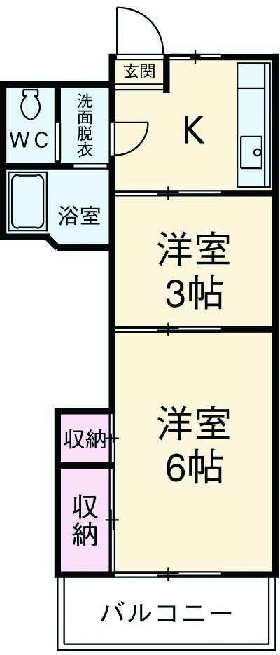 シャレー学芸大カワベ第2 305号室の間取り