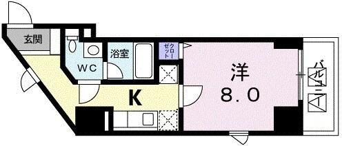 広尾ビューヒルズ・06050号室の間取り