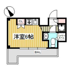 ダイアパレス三ツ沢公園東・西館 E106号室の間取り