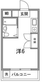 ピュアコーポヤマザキ・106号室の間取り