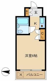 ピュアコーポヤマザキ・201号室の間取り