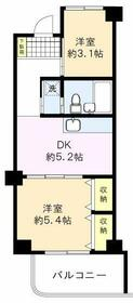 仙台坂アルカディア・404号室の間取り